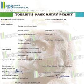 Gorilla-Permit-Rwanda