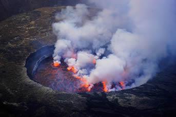 Hking Nyiragongo Volcano