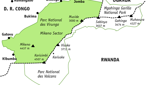 The Virunga  Conservation Area – Virunga Massif