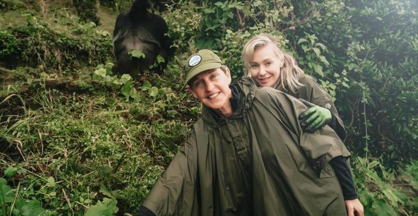 Ellen's gorilla conservation in Rwanda